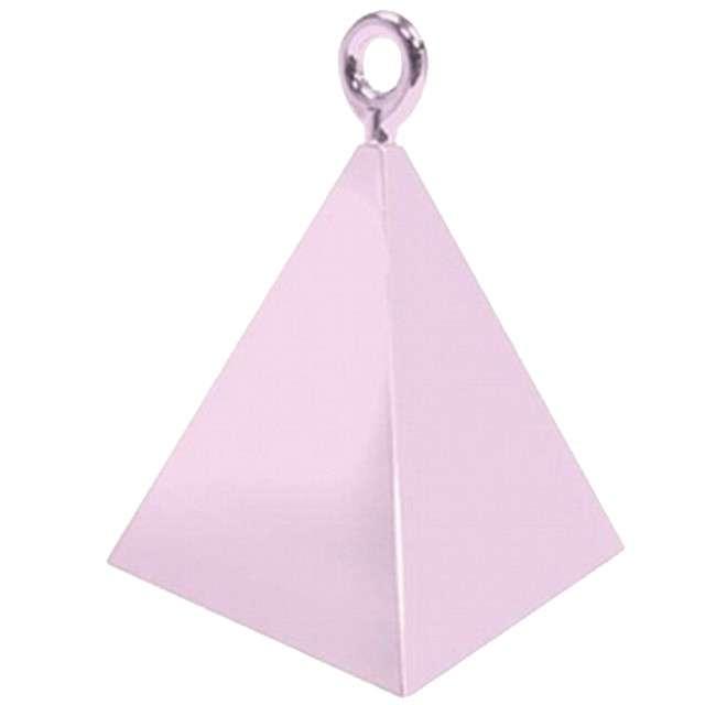 """Obciążnik do balonów """"Piramida"""", QUALATEX, różowy jasny"""