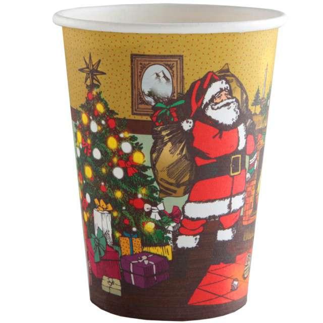 "Kubeczki papierowe ""Christmas Time"", SANTEX, 250 ml, 10 szt"