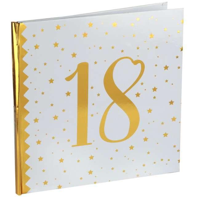 """Księga Gości """"18 Urodziny"""", SANTEX, 24 x 24 cm, 20 kartek"""