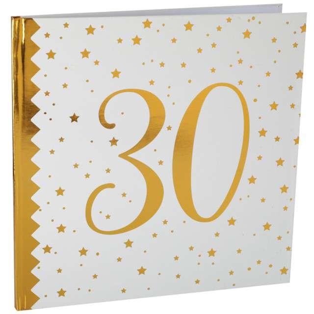 """Księga Gości """"30 Urodziny"""", SANTEX, 24 x 24 cm, 20 kartek"""