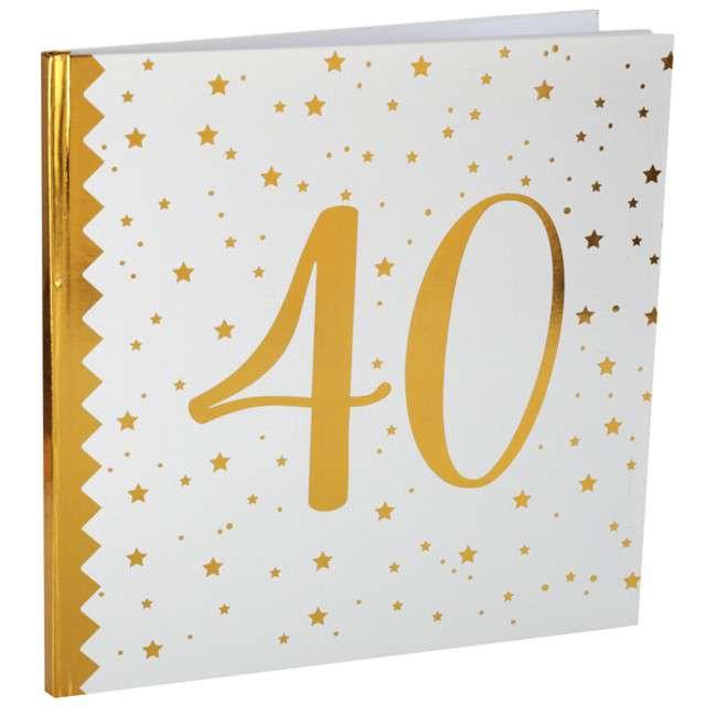 """Księga Gości """"40 Urodziny"""", SANTEX, 24 x 24 cm, 20 kartek"""