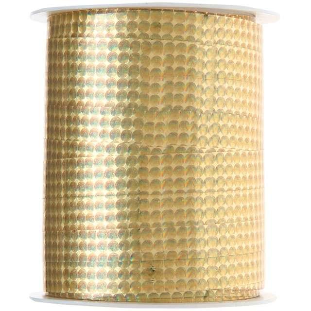 "Wstążka do balonów ""Deluxe"", złota, SANTEX, 10 mm/25 m"