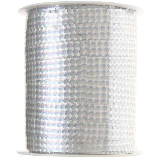 "Wstążka do balonów ""Deluxe"", srebrna, SANTEX, 10 mm/25 m"