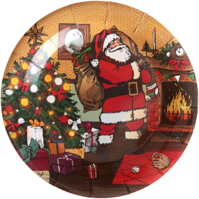 """Talerzyki papierowe """"Christmas Time"""", SANTEX, 18 cm, 10 szt"""