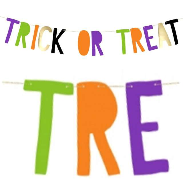 "Baner ""Trick or Treat"", PartyDeco, mix, 100 cm"