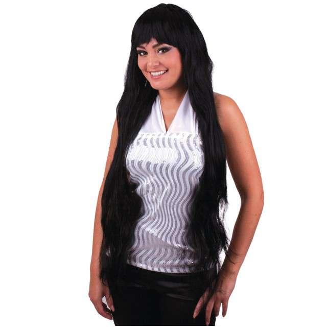 """Peruka party """"Długie włosy - Elisa"""", czarne, FunnyFashion"""