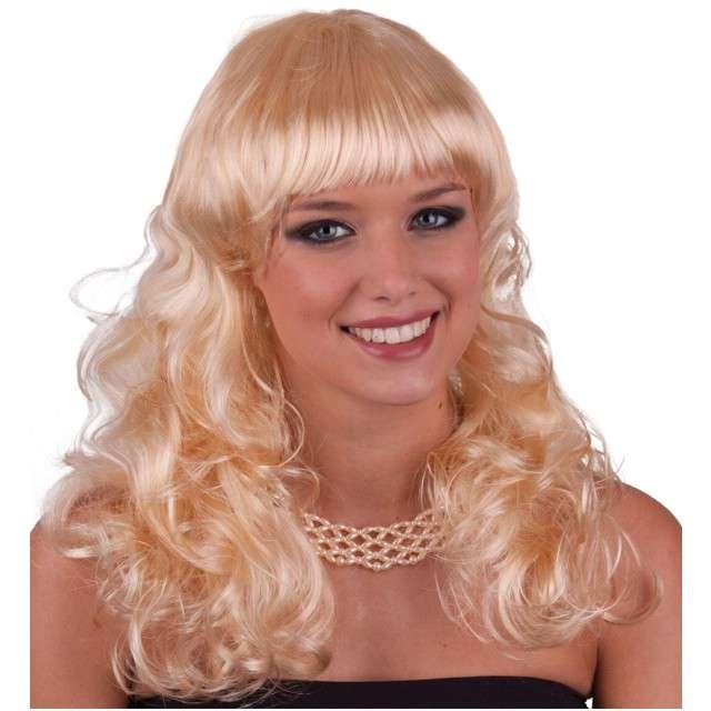 "Peruka party ""Urocze Loczki"", blond, FunnyFashion"