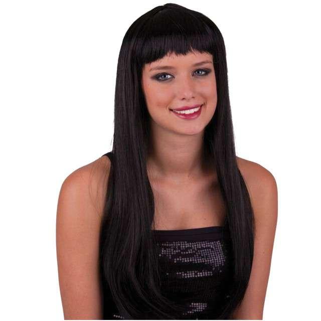 """Peruka party """"Pony - Długie Włosy"""", czarna, Funny Fashion"""