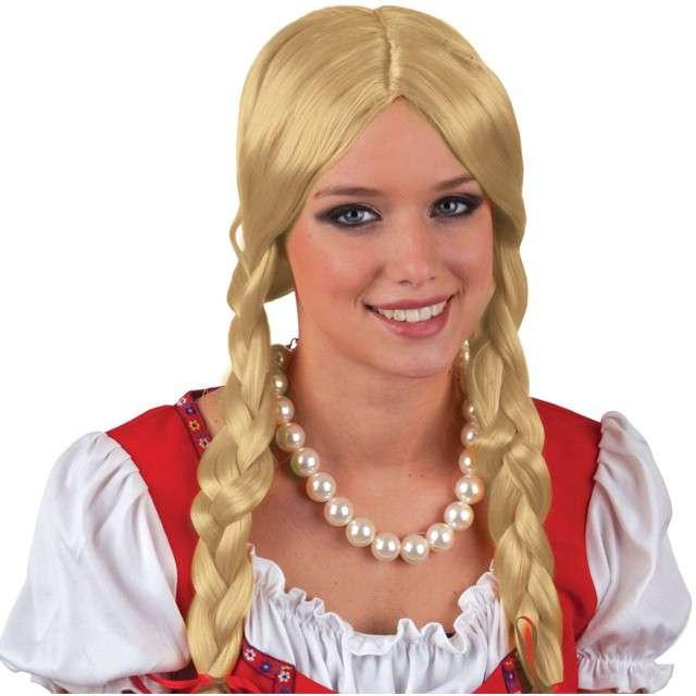 """Peruka party """"Bawarka"""", blond. FunnyFashion"""