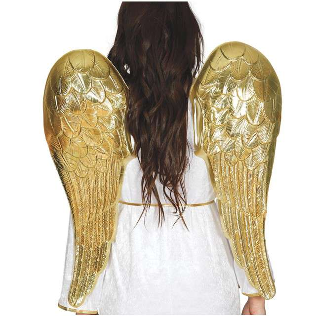 """Skrzydła anioła """"Gold Angel"""", złote, SMIFFYS, 70x64 cm"""