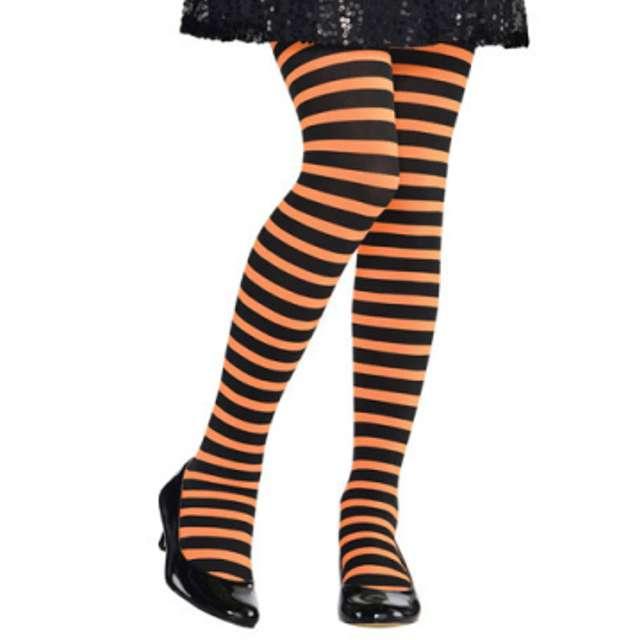 """Rajstopy dla dzieci """"Halloween Paski"""", AMSCAN"""