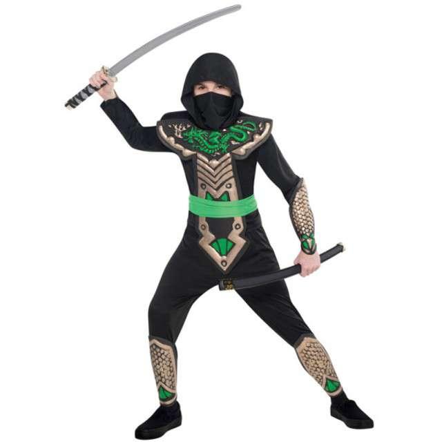 """Strój dla dzieci """"Ninja Smok"""", AMSCAN, rozm. na wiek 8-10 lat"""
