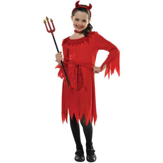 """Strój dla dzieci """"Diablica"""", AMSCAN, rozm. 8-10 lat"""