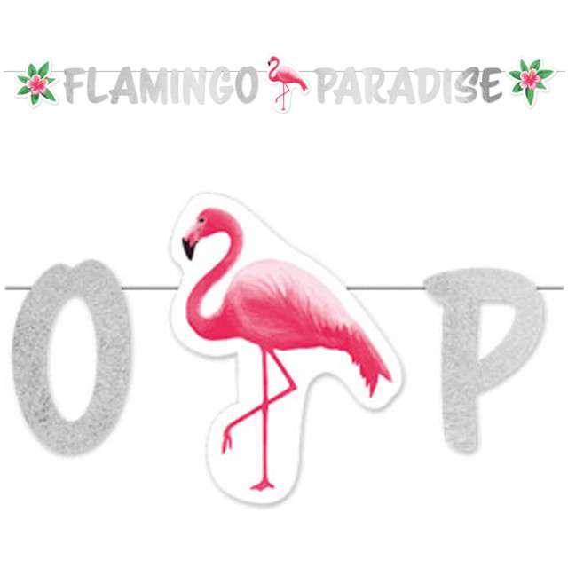 "Girlanda ""Flamingo Paradise"", AMSCAN, 135 cm"