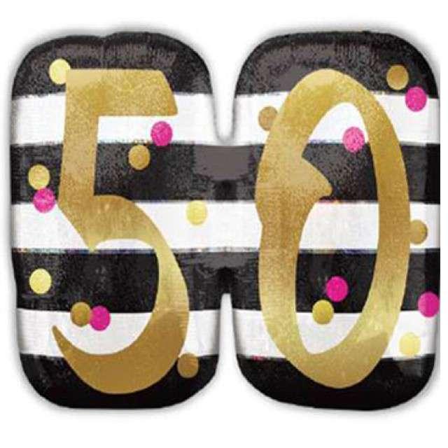 """Balon foliowy """"50 Urodziny - Milestone"""", AMSCAN, 25"""" SHP"""