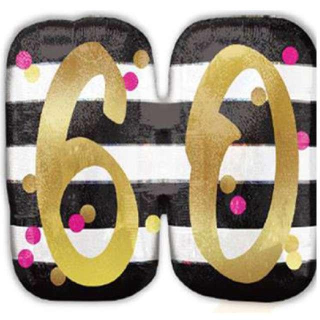 """Balon foliowy """"60 Urodziny - Milestone"""", AMSCAN, 25"""" SHP"""