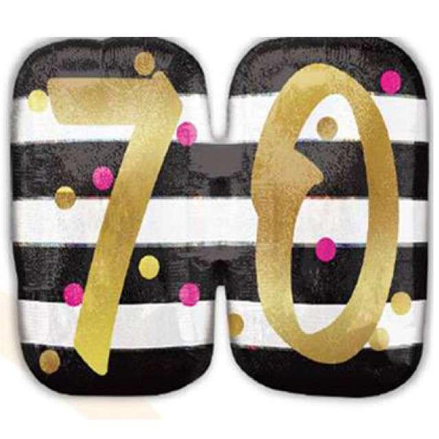 """Balon foliowy """"70 Urodziny - Milestone"""", AMSCAN, 25"""" SHP"""