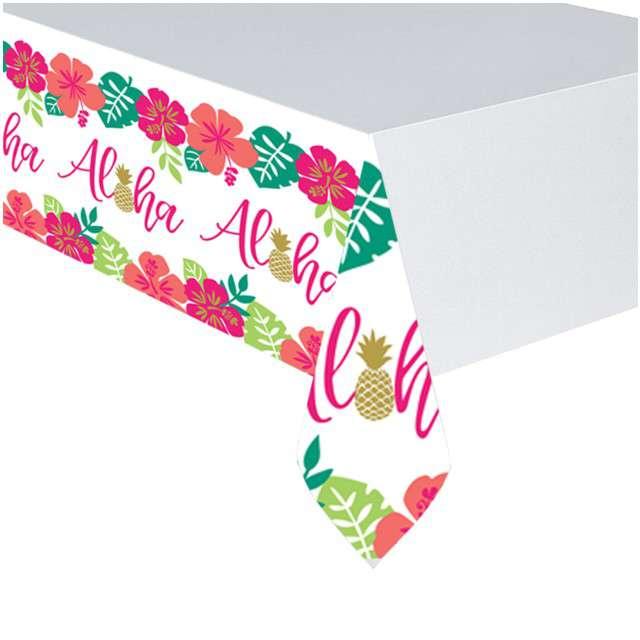 """Obrus papierowy """"Aloha - Hawajski"""", AMSCAN, 259x137 cm"""