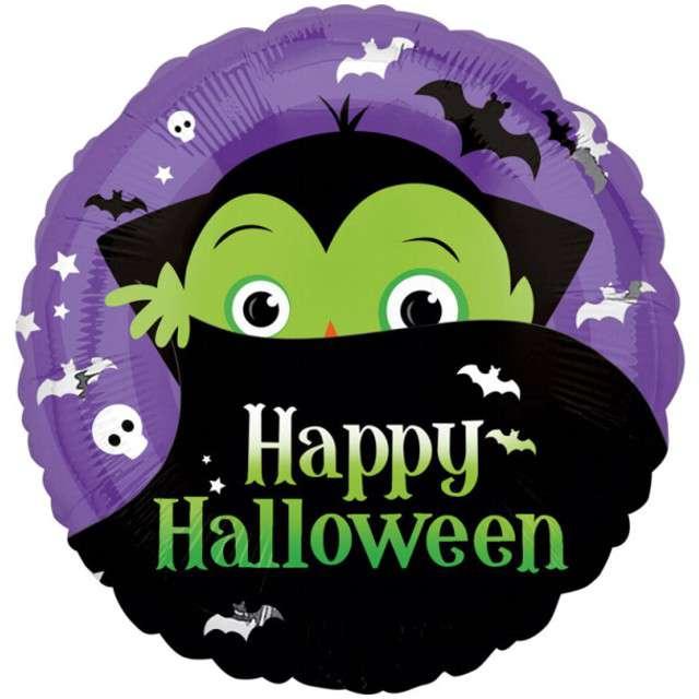 """Balon foliowy """"Dracula Halloween"""", AMSCAN, 17"""" RND"""