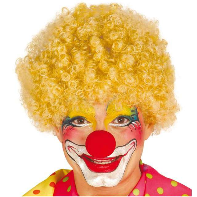 """Peruka party """"Afro Klaun"""", blond, GUIRCA"""