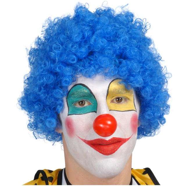 "Peruka party ""Afro Klaun"", niebieska, GUIRCA"