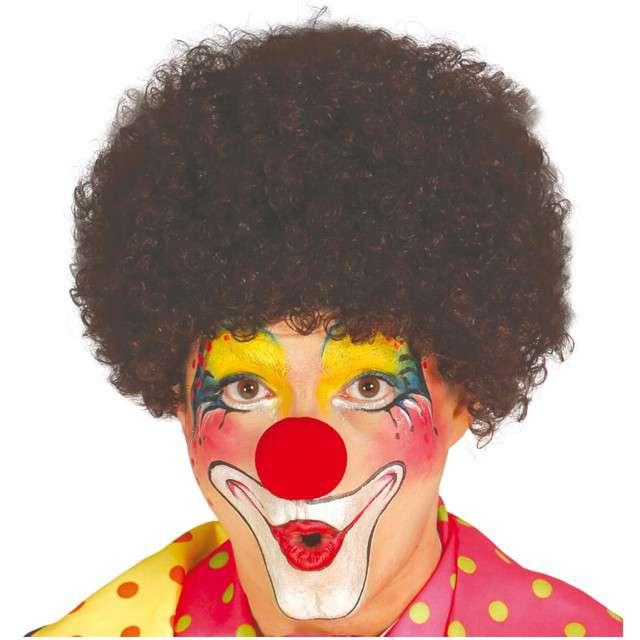"Peruka party ""Afro Klaun"", brązowa, GUIRCA"