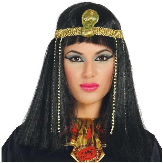 "Peruka party ""Kleopatra - Egipska Królowa"", czarna, GUIRCA"