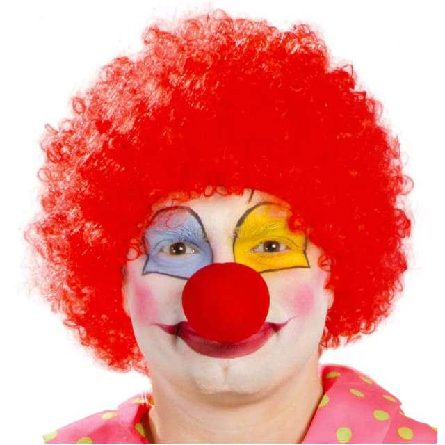"Peruka party ""Afro Klaun"", czerwona, GUIRCA"