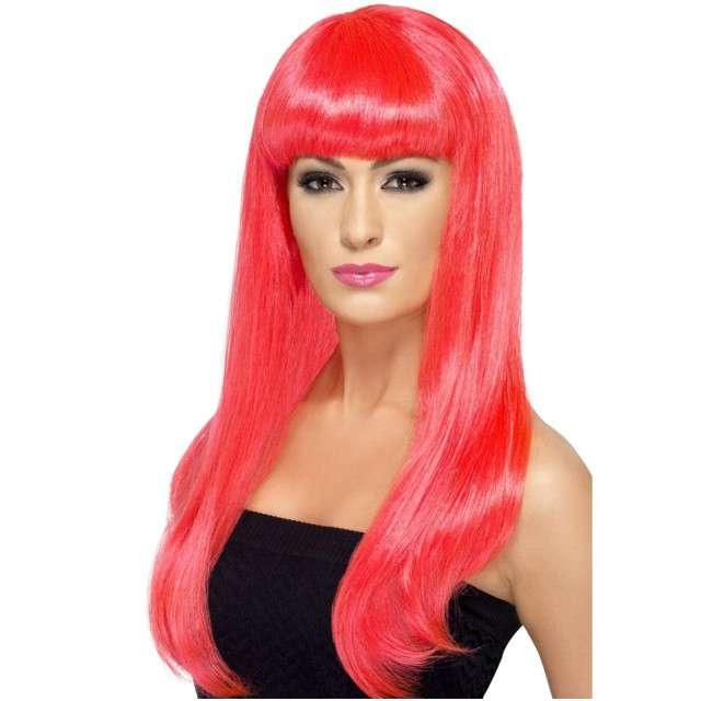 """Peruka party """"Atrakcyjna Tiffany"""", różowa neonowa, SMIFFYS"""