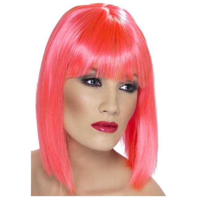 "Peruka party ""Neon"", różowa, SMIFFYS"
