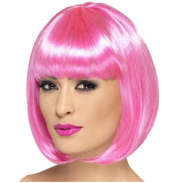 "Peruka party ""Bob Partyrama"", różowa, SMIFFYS"