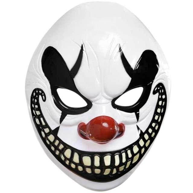 """Maska """"Szalony Klaun"""", plastikowa, AMSCAN"""