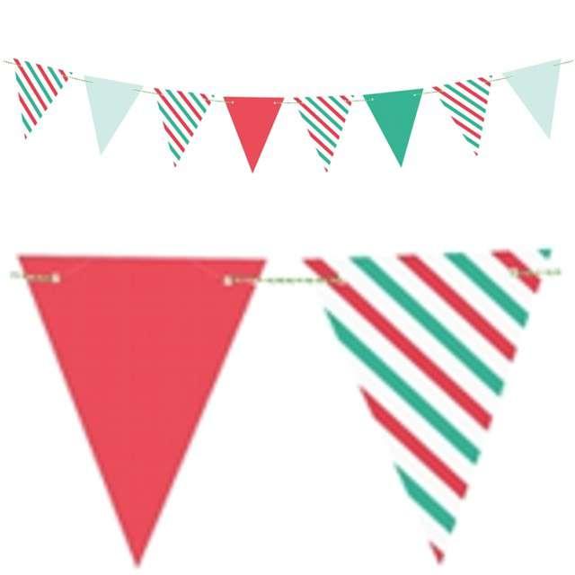 "Baner flagi ""Merry Xmas"", PartyDeco, 130 cm"