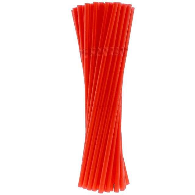 """Słomki łamane """"BIO Red"""", czerwone, 21 cm, Godan, 40 szt"""