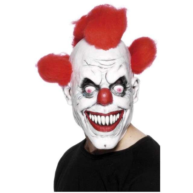 """Maska """"Straszny Klaun z włosami"""", SMIFFYS"""