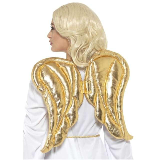 """Skrzydła anioła """"Deluxe"""", złote, SMIFFYS, 50x40 cm"""