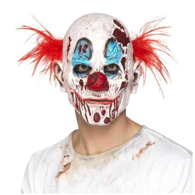 "Maska ""Straszny Klaun Zombie"", lateksowa, SMIFFYS"