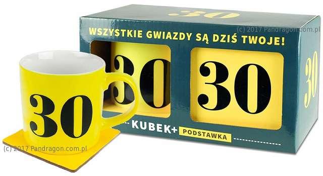 """Kubek """"30 Urodziny - Neon"""", żółty, Pan Dragon"""