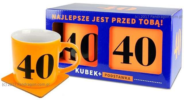 """Kubek """"40 Urodziny - Neon"""", pomarańczowy, Pan Dragon"""