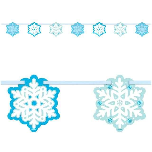 "Girlanda ""Płatki Śniegu"", UNIQUE, 213 cm"