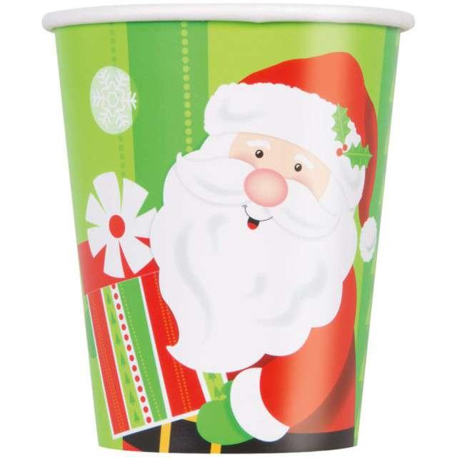 """Kubeczki papierowe """"Święty Mikołaj"""", UNIQUE, 266 ml, 8 szt"""