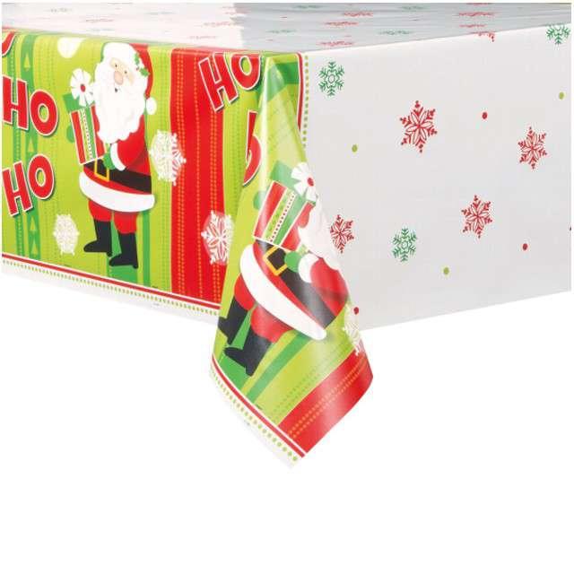 """Obrus foliowy """"Świąteczny Mikołaj"""", UNIQUE, 213 x 137 cm"""