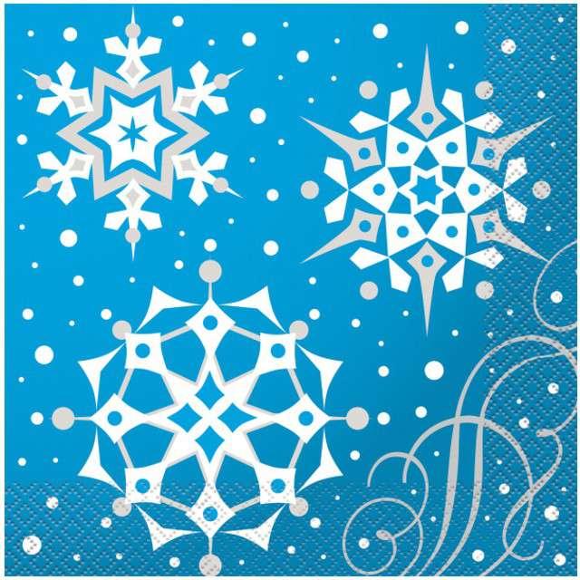 """Serwetki """"Świąteczne Śnieżynki"""", UNIQUE, 33 cm, 16 szt"""