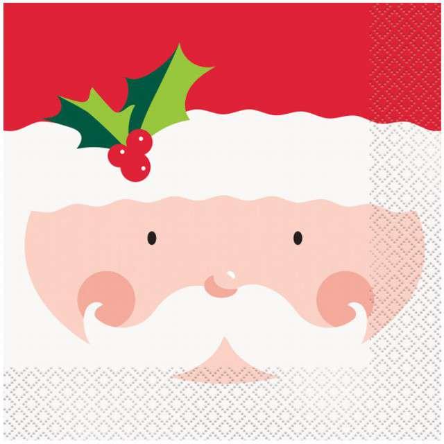 """Serwetki """"Święty Mikołaj"""", UNIQUE, 33 cm, 16 szt"""