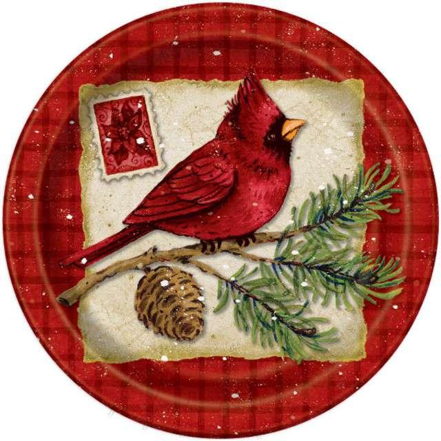 """Talerzyki papierowe """"Boże Narodzenie"""", UNIQUE, 18 cm, 8 szt"""