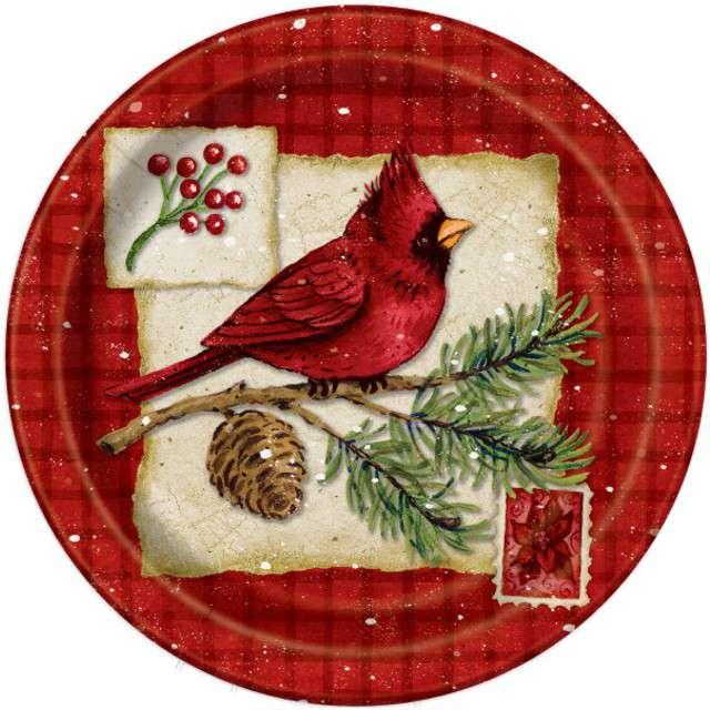 """Talerzyki papierowe """"Boże Narodzenie"""", UNIQUE, 23 cm, 8 szt"""