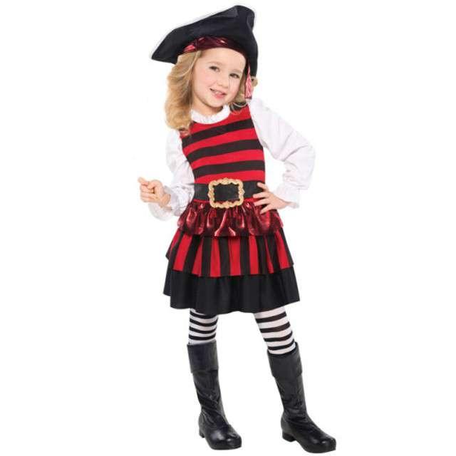 """Strój dla dzieci """"Mała Piratka"""", AMSCAN, rozm. 3-4 lata"""