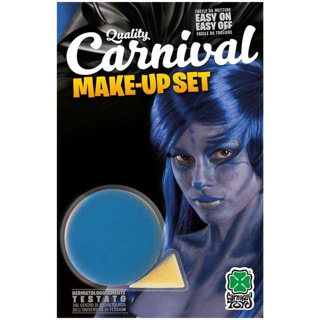 """Make-up party """"Farba do makijażu z gąbeczką"""", niebieska, Carnival Toys, 10 g"""