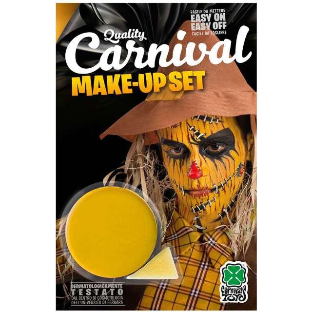 """Make-up party """"Farba do makijażu z gąbeczką"""", żółta, Carnival Toys, 10 g"""