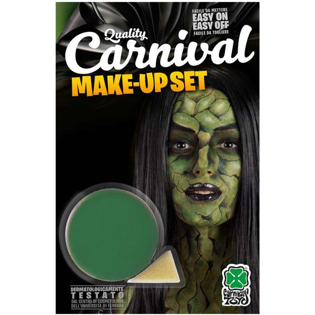 """Make-up party """"Farba do makijażu z gąbeczką"""", zielona, Carnival Toys, 10 g"""